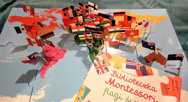 """Biblioteczka Montessori. Flagi świata"", Egmont - recenzja"