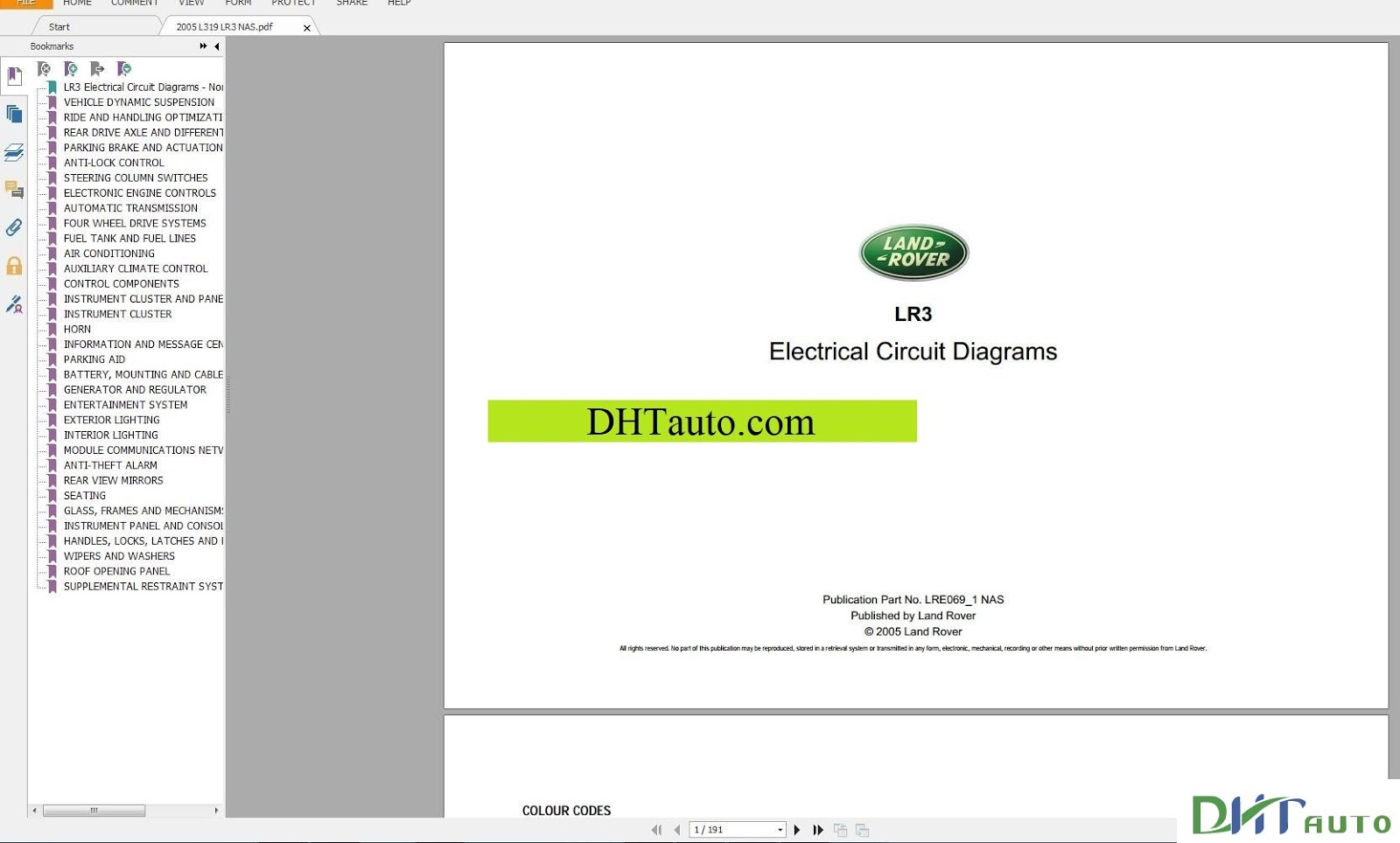 Land Rover - Range Rover Electrical Wiring Diagram Full  1995-2015