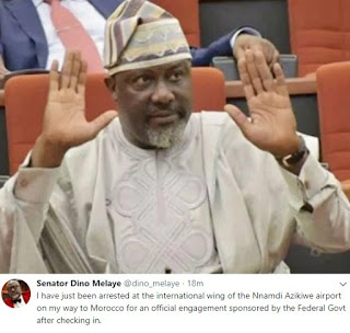 Senator Dino MELAYE arrested, shugasdiary news blog, Abuja news blog, breaking news 2018, Nigerian senator arrested