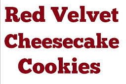 Delicious Red Velvet Cheesecake Cookies #cheesecake #redvelvet #cookies #desserts