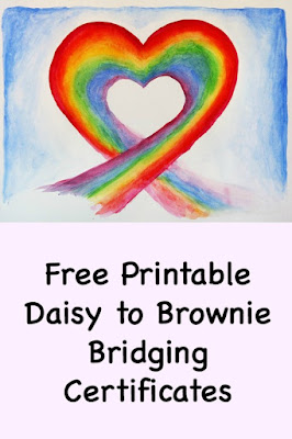 Free Printable Daisy to Brownie Bridging Certificates