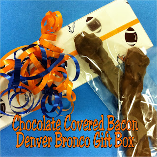 Chocolate Covered Bacon Denver Bronco Gift Box