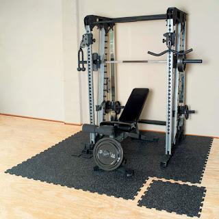 Greatmats Geneva Interlocking Rubber Tile for exercise equipment