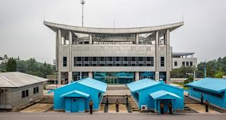 Zona desmilitarizada. Divisa entre a Coreia do Norte e a Coreia do Sul