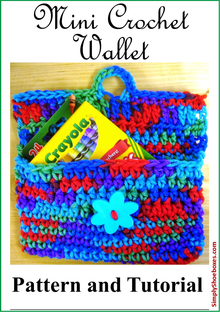 Simply Shoeboxes Mini Purse Or Wallet Crochet Instructions Sized