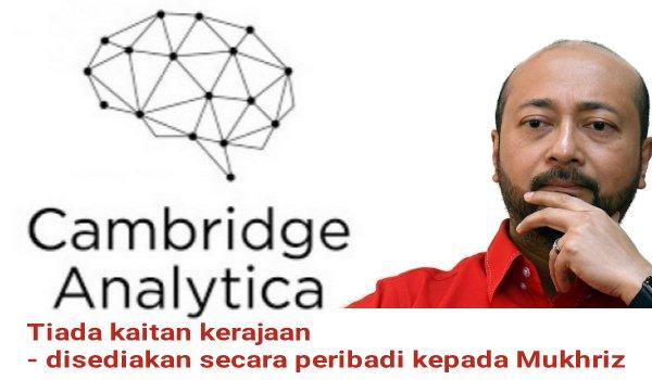 Cambridge Analytica tiada kaitan dengan kerajaan - disediakan secara peribadi kepada Mukhriz