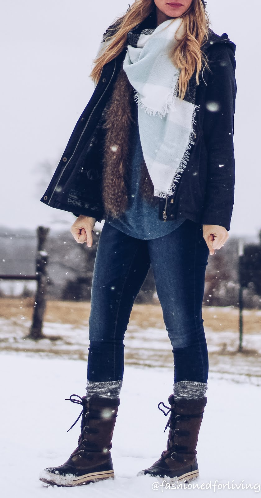 fashioned for living snow day outfit skinny jeans with