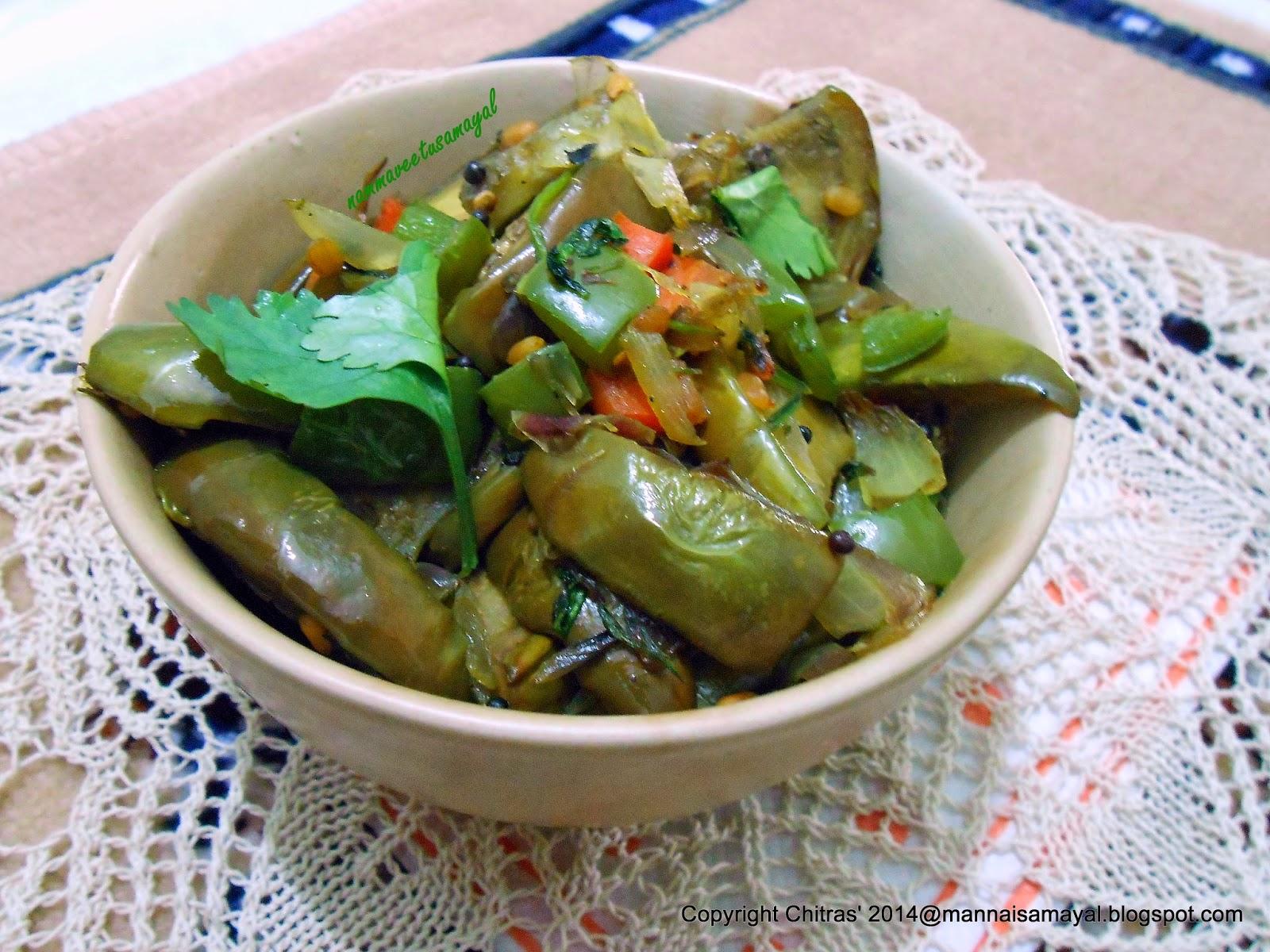 katharikkai [ brinjal ] phata phat curry