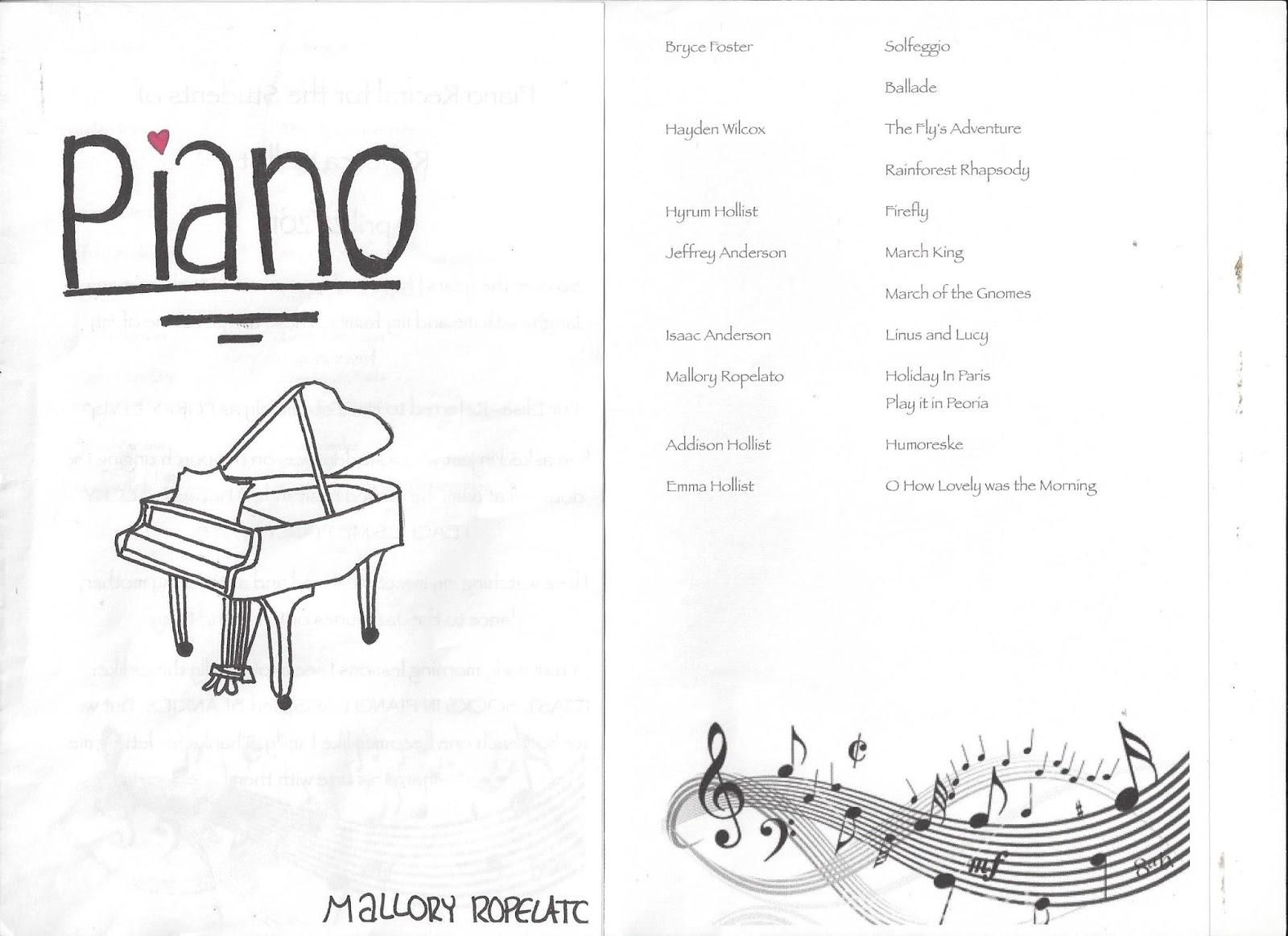 Ropelato Family Mallorys Piano Recital