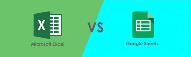 Perbedaan Google Spreadsheet dan Microsoft Excel