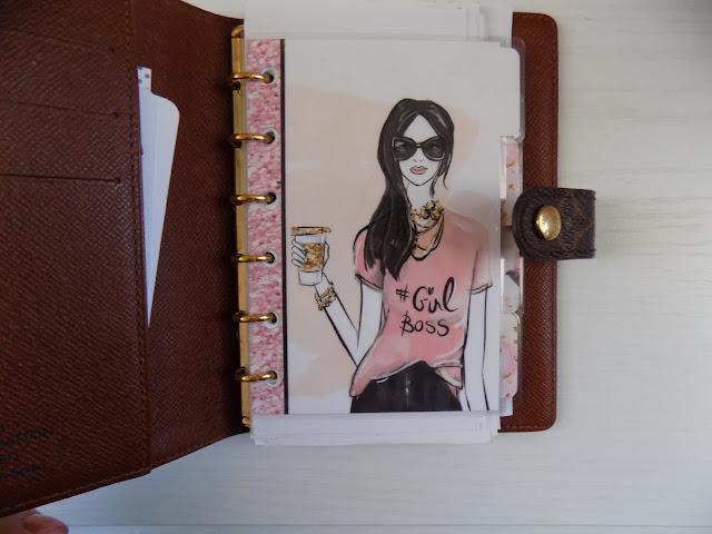 louis vuitton agenda-blog planner-how to organize blog planner