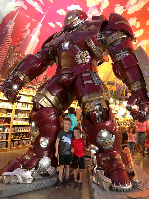 Superheroes at Minnesota's Largest Candy Store