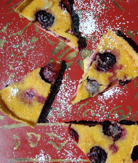 tarte, frangipane, plum, limoncello,