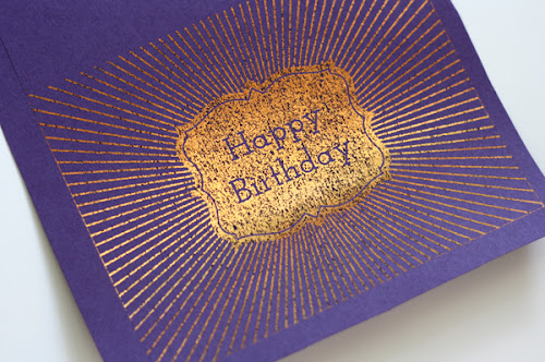 How to make DIY metallic foil cards
