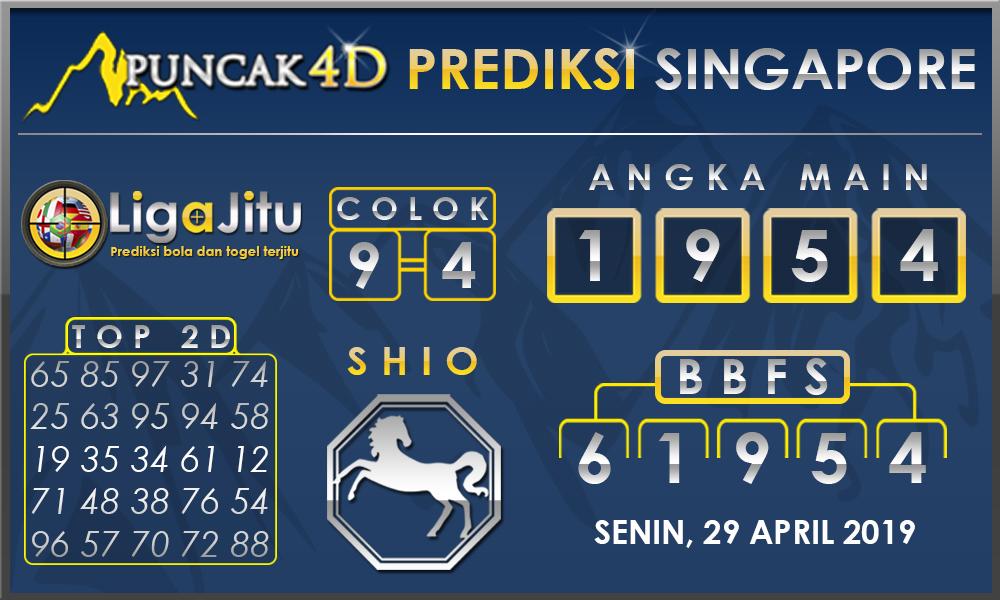 PREDIKSI TOGEL SINGAPORE PUNCAK4D 28 APRIL 2019