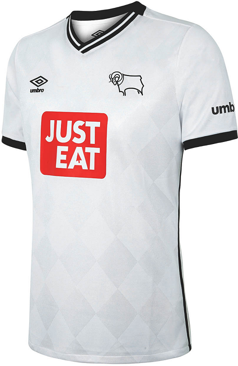 e6039615fd0 The new Derby County 15-16 Away Jersey introduces a smart design for the  upcoming Championship campaign. The Derby County 2015-2016 Away Strip is  nightshade ...