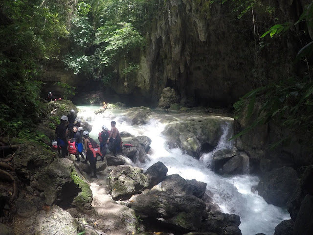 Canlaob River jump-off point for Kawasan Canyoneering
