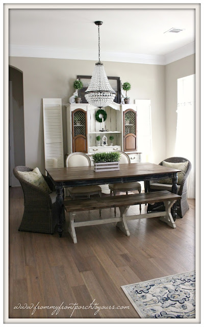 mia chandelier-pottery barn-french farmhouse-suburban farmhouse dining room-from my front porch to yours