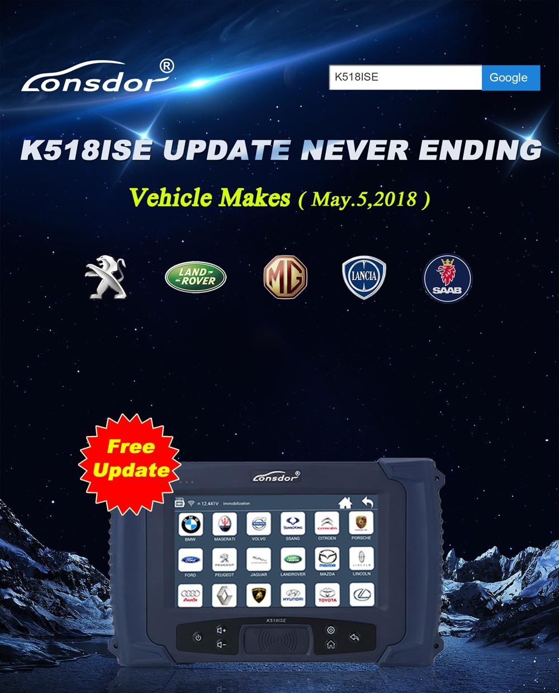 Lonsdor K518ISE Key Programmer: 2018