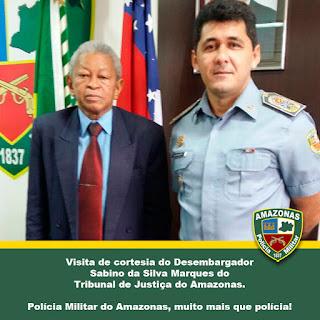 Visita do Desembargador do TJAM ao quartel do Comando Geral
