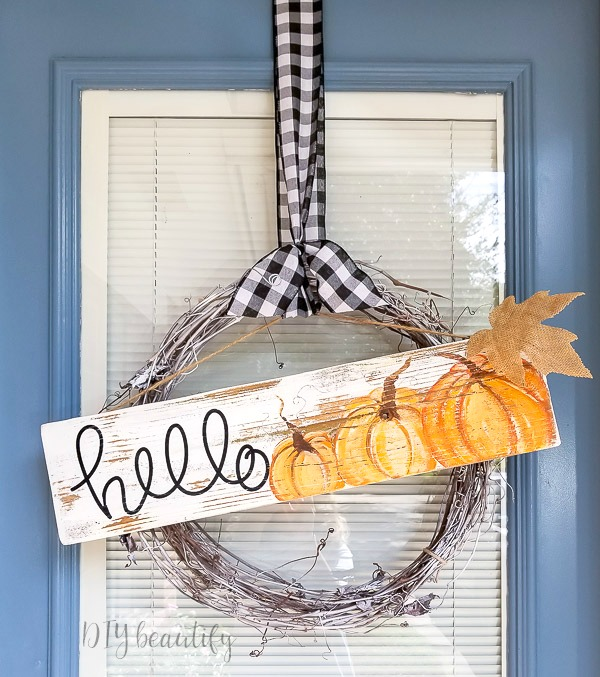 painted pumpkin sign