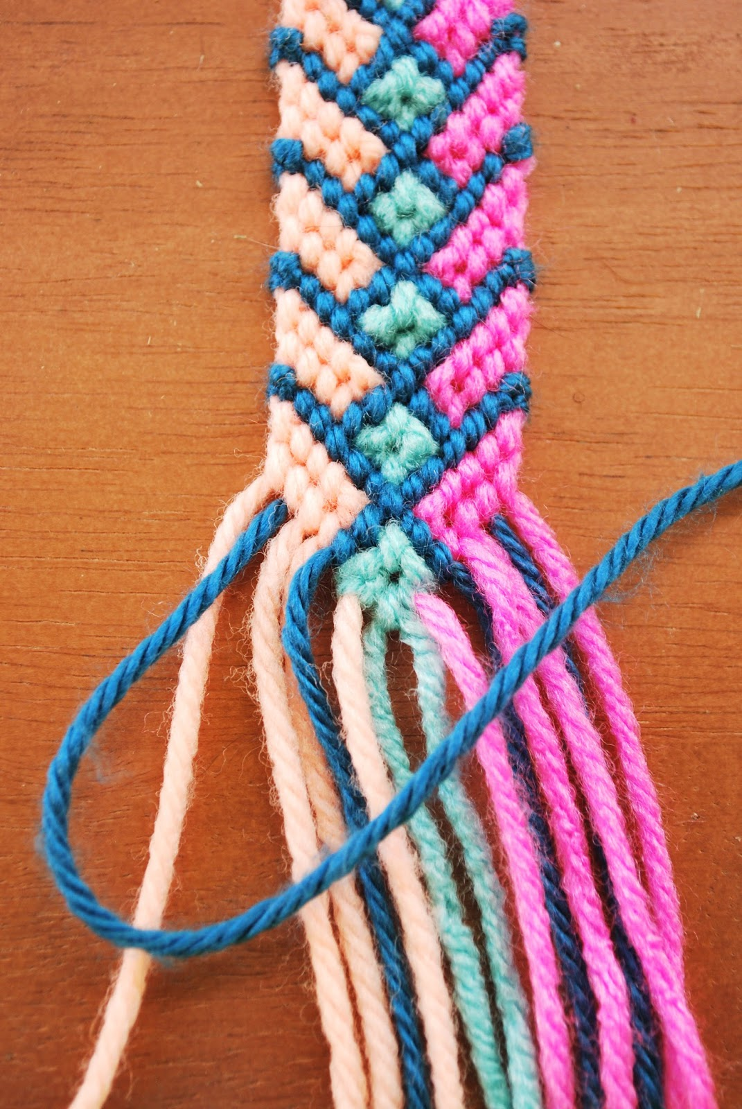 Then With The Light Blue String On Left Tie A Forward Knot Other Taking That Is Second From