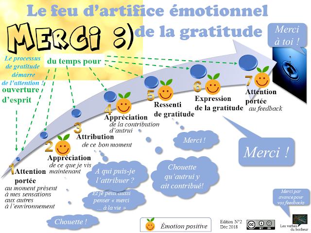 Le feu d'artifice émotionnel de la gratitude (schéma, processus) - lesverbesdubonheur bonheur psychologie positive