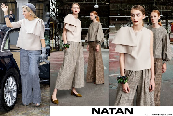 Queen Maxima wore Natan Top from Fall-Winter 2019 Colection