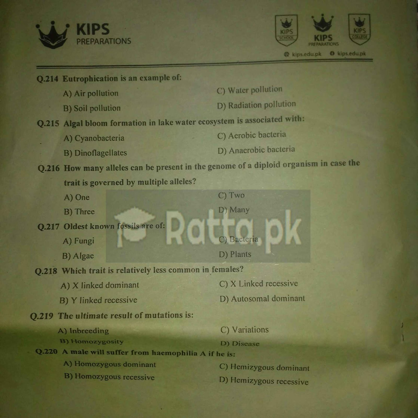 KIPS MCAT Full Length Papers 1