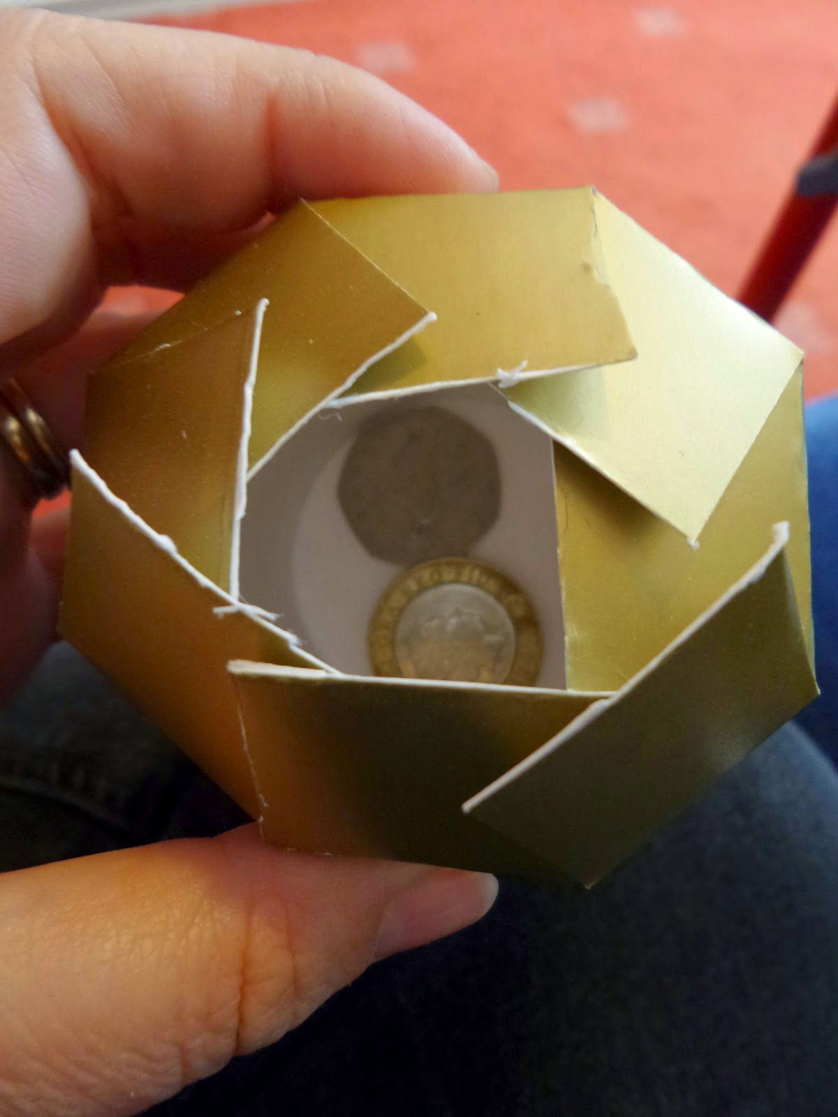 Making a Gold Money Cup for Chinese New Year