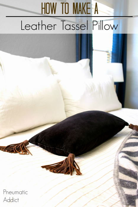 Pneumatic Addict : How to Make a Leather Tassel Pillow