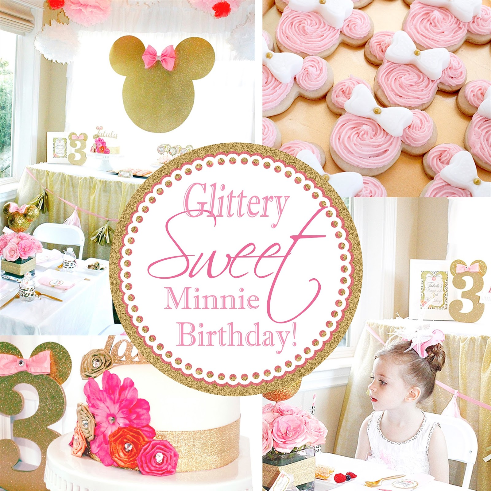 Minnie Mouse First Birthday Party Via Little Wish Parties: A Lovely Design: Glittery Sweet Minnie Birthday