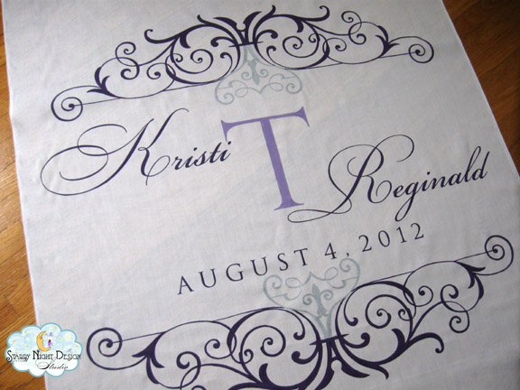 Aisle Paint For You: Custom Aisle Runner that Matches Wedding Colors