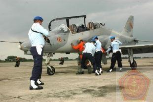 Latihan force down Lanud Iswahjudi