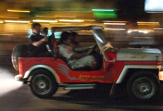 Yangon nightclub rush in native jeep