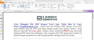 Mengunci File PDF Dengan Foxit