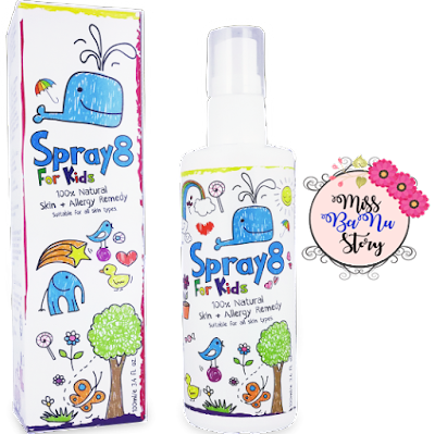 Spray8 For Kids, Advertorial, Iklan, Review Produk, Gift Review, Furley Bioextracts, Testimoni, Kanak -Kanak, Affiliate,