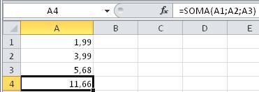 Operador ponto e vírgula ; do  Excel