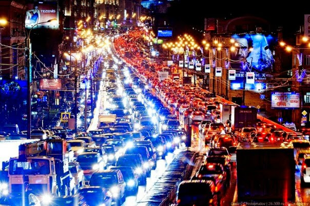 travelling in russia moscow traffic jams