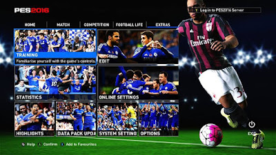 PES 2016 Chelsea and Real Madrid Graphic Menu