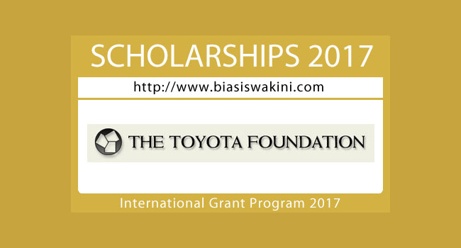 The Toyota Foundation International Grant Program 2017