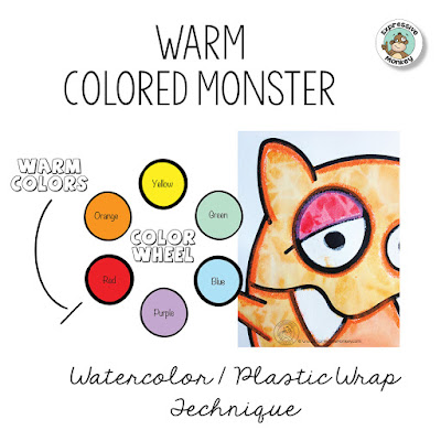 Warm Colored Monster Lesson