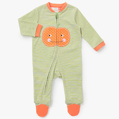 Pumpkin sleepsuit John Lewis