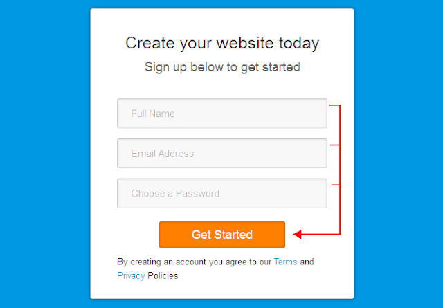 How To Create Your Own Free Website? step 2