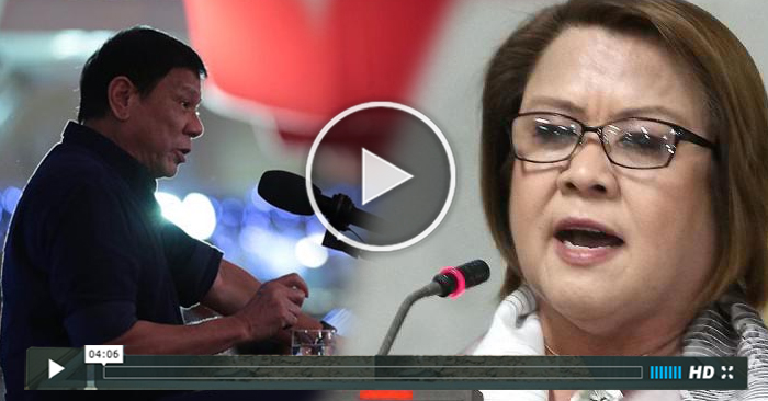 "WATCH: Duterte to De Lima ""Maraming buhay na Pilipino ang sinira mo!"""