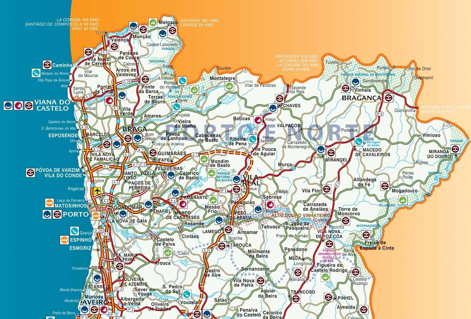 aeroportos espanha mapa Mapas de Braga   Portugal | MapasBlog aeroportos espanha mapa