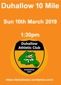 Duhallow 10 mile in Newmarket, NW Cork... Sun 10th Mar 2019