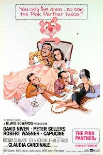 """Capa do filme """"A Pantera Cor de Rosa"""", de 1963"""