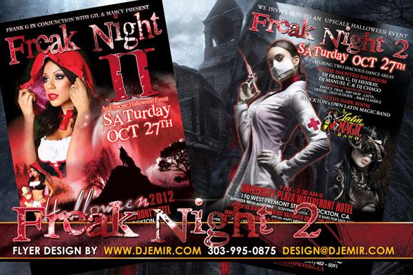 Freak Night 2 2nd Annual Halloween Ball Flyer Design