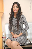 Actress Chandini Chowdary Pos in Short Dress at Howrah Bridge Movie Press Meet  0129.JPG